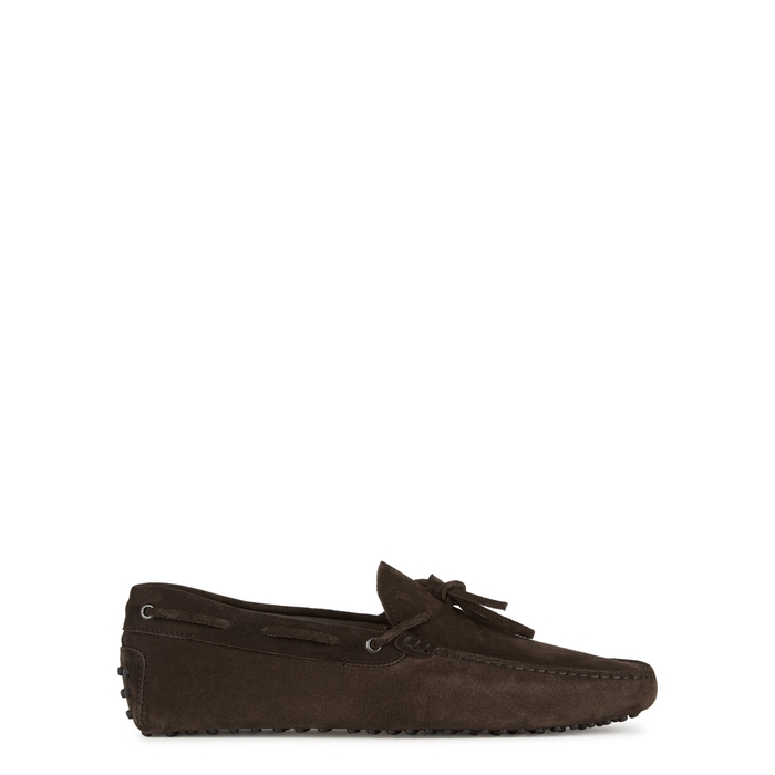 Tod's Gommino Brown Suede Driving Shoes