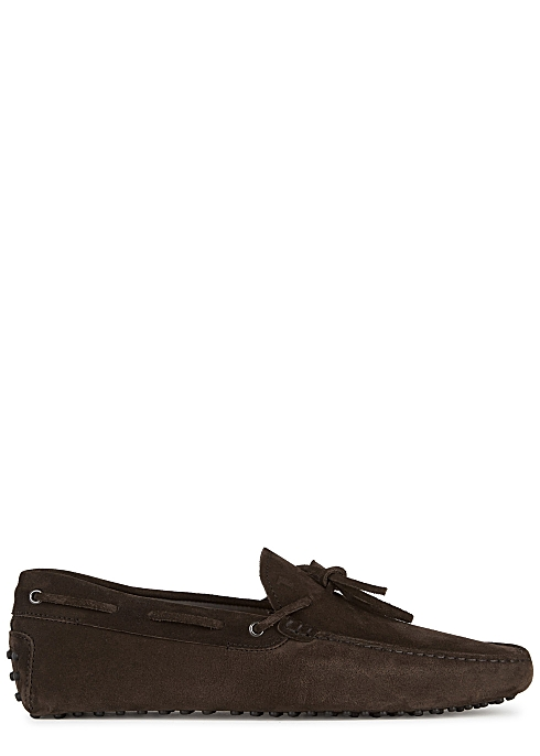 9e7b516287 Tod's Gommino brown suede driving shoes - Harvey Nichols