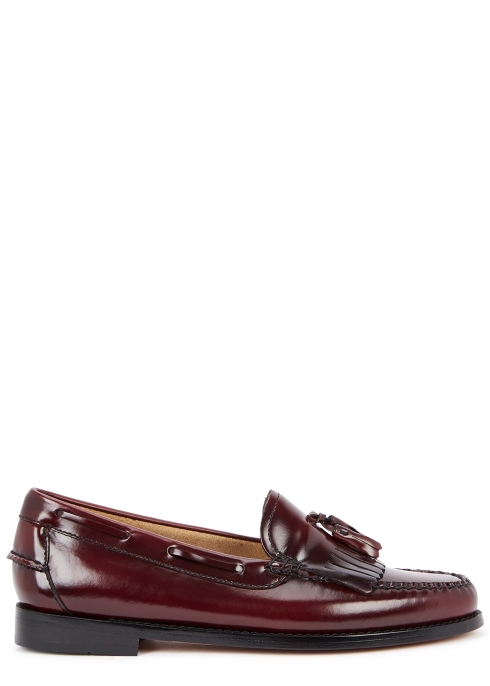 G.H. Bass   Co Esther Kiltie fringed leather loafers - Harvey Nichols 80cc77c999