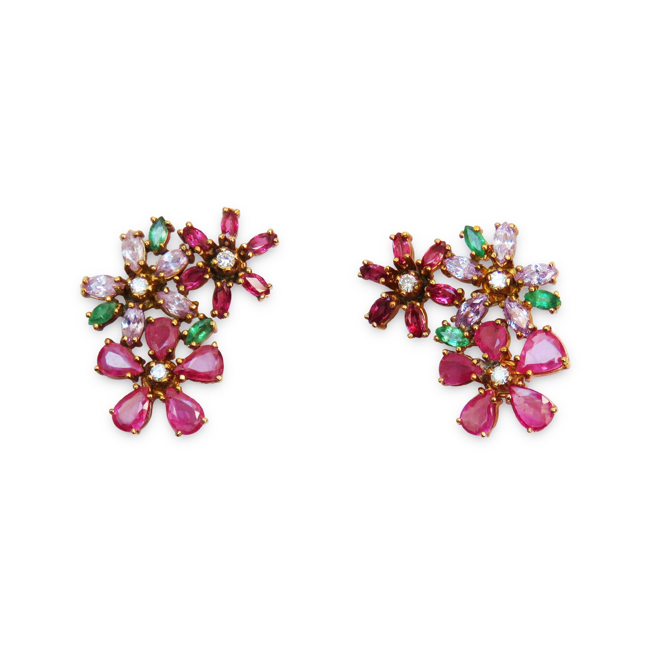 ISABEL ENGLEBERT Delilah Flower Earrings