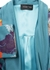 Men s green printed silk satin dressing gown - MENG