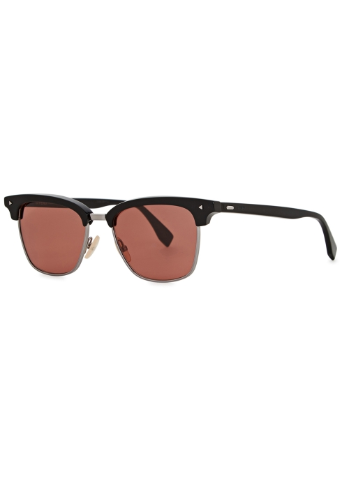 65ac9bfd59 Fendi Black clubmaster-style sunglasses - Harvey Nichols