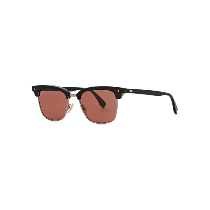 Fendi Black Clubmaster-style Sunglasses