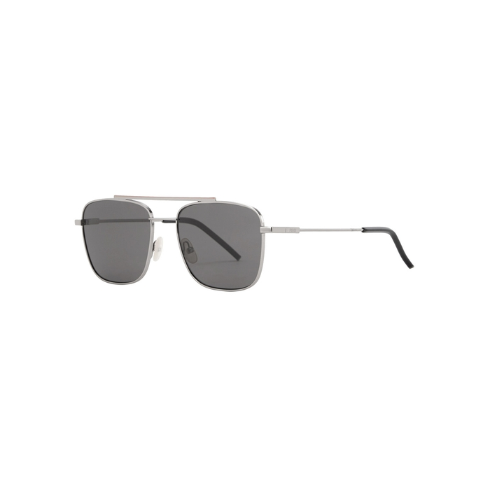 56c072e9a7f FENDI Silver Tone Square-Frame Sunglasses