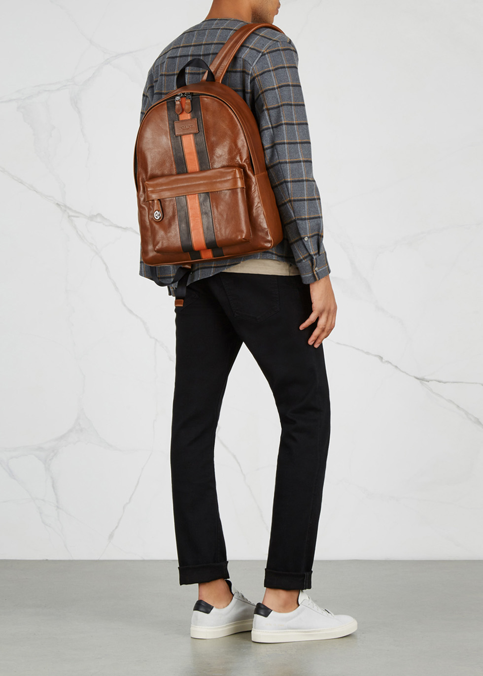 65d2250f750b Coach Campus brown leather backpack - Harvey Nichols