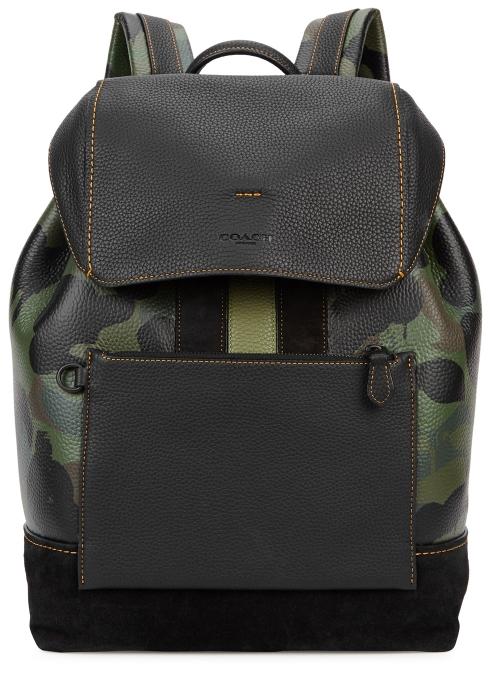 Coach Camouflage-print leather backpack - Harvey Nichols 4faffafae8cf9