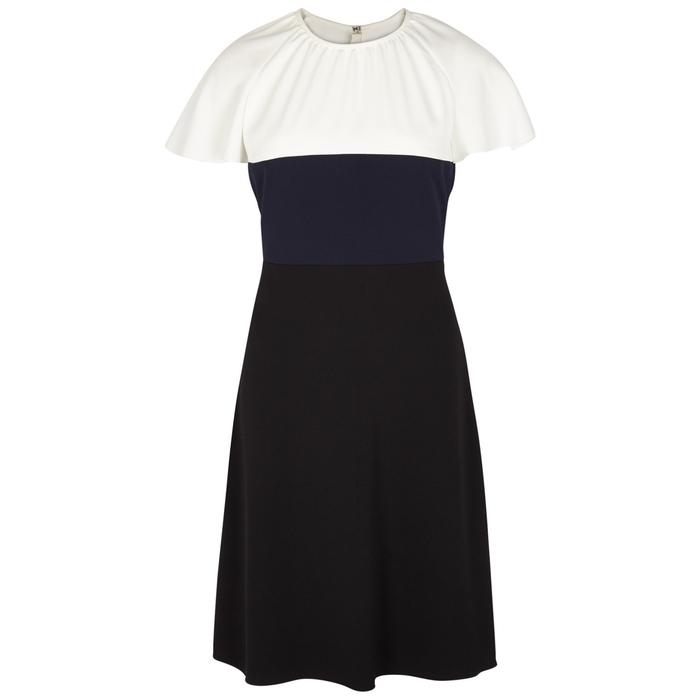Paule Ka COLOUR-BLOCK PANELLED DRESS