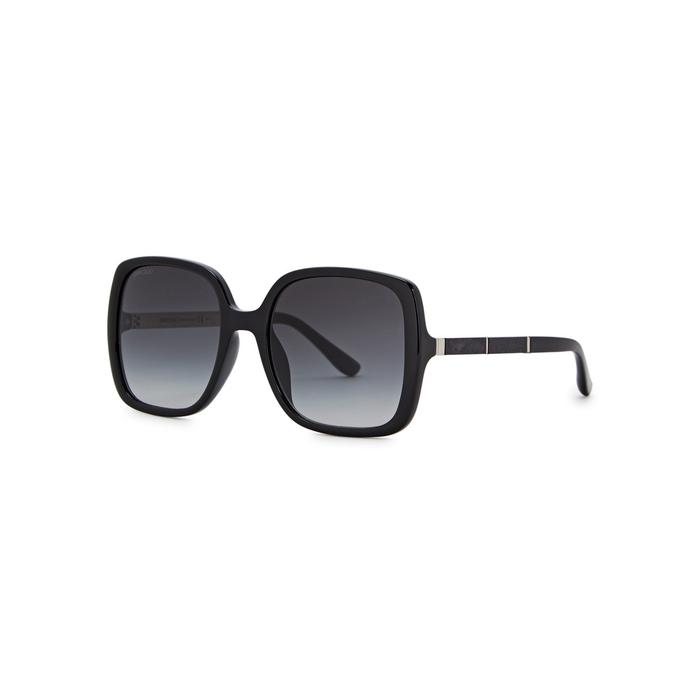 1f0f553a12 Jimmy Choo Chari Black Oversized Sunglasses