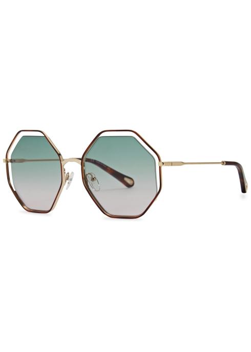 93f793cc243 Chloé Poppy hexagon-frame sunglasses - Harvey Nichols
