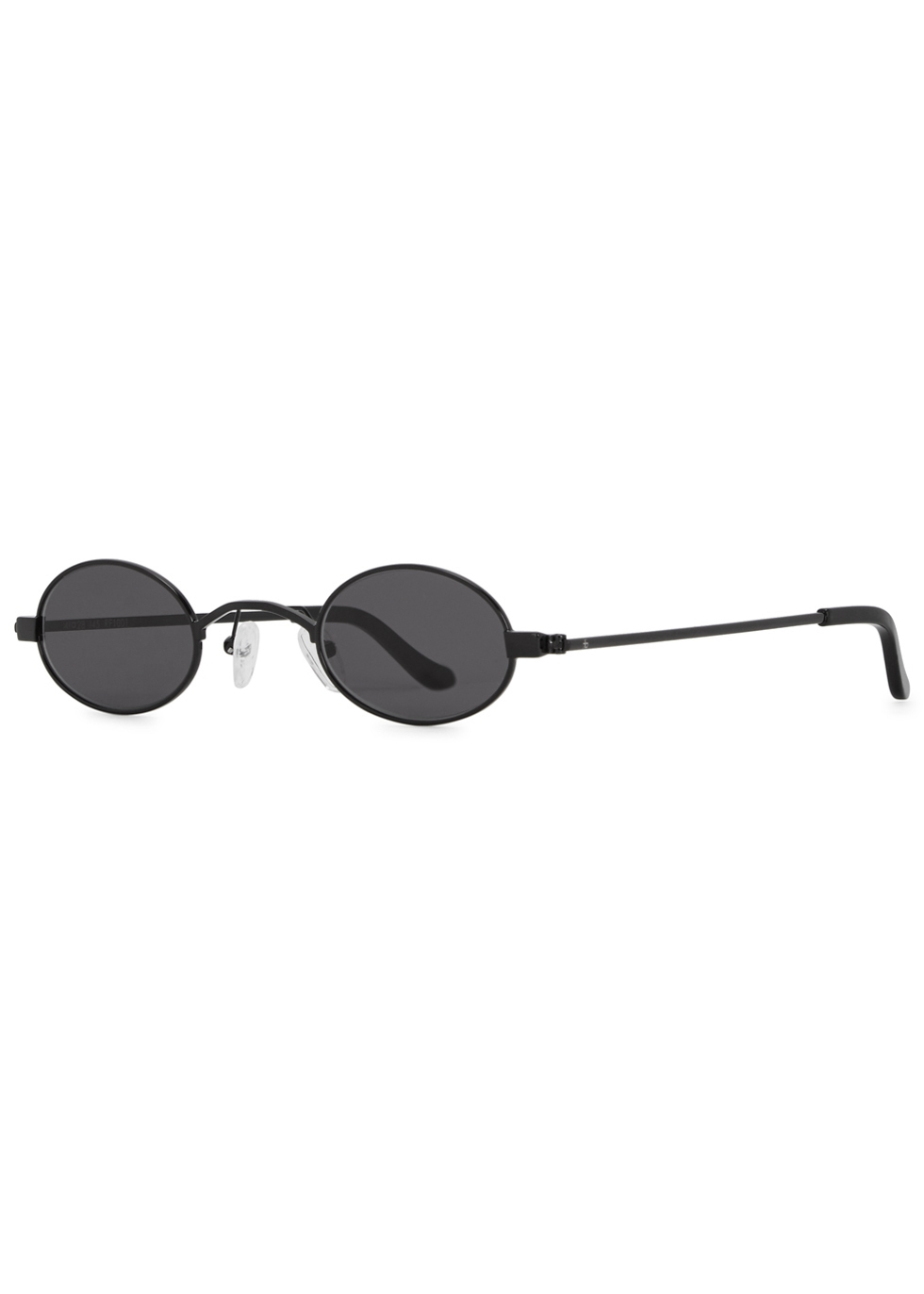 ROBERI AND FRAUD Doris Black Round-Frame Sunglasses