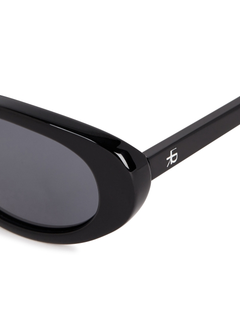 a950ae94a0 ROBERI AND FRAUD Betty black oval-frame sunglasses - Harvey Nichols