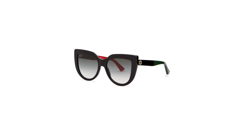 feaf3fc1ef37 Gucci Black cat-eye sunglasses - Harvey Nichols