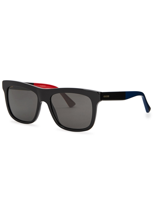 819a30037e Gucci Black wayfarer-style sunglasses - Harvey Nichols