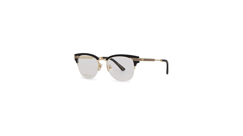 fe7238b5fda Gucci Black clubmaster-style optical glasses - Harvey Nichols