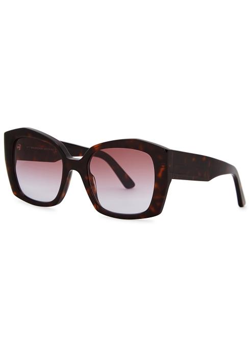 f796c08886 Balenciaga Tortoiseshell square-frame sunglasses - Harvey Nichols