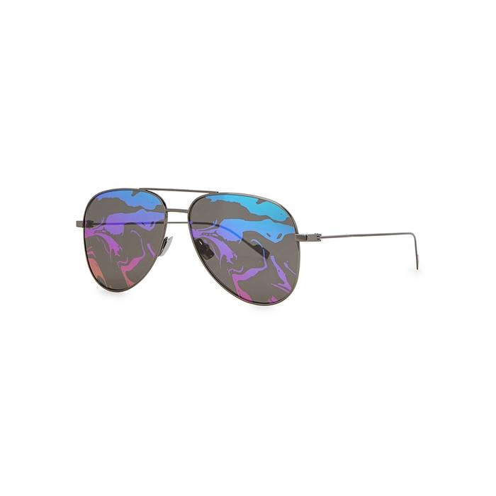 Saint Laurent SL193 Mirrored Aviator-style Sunglasses