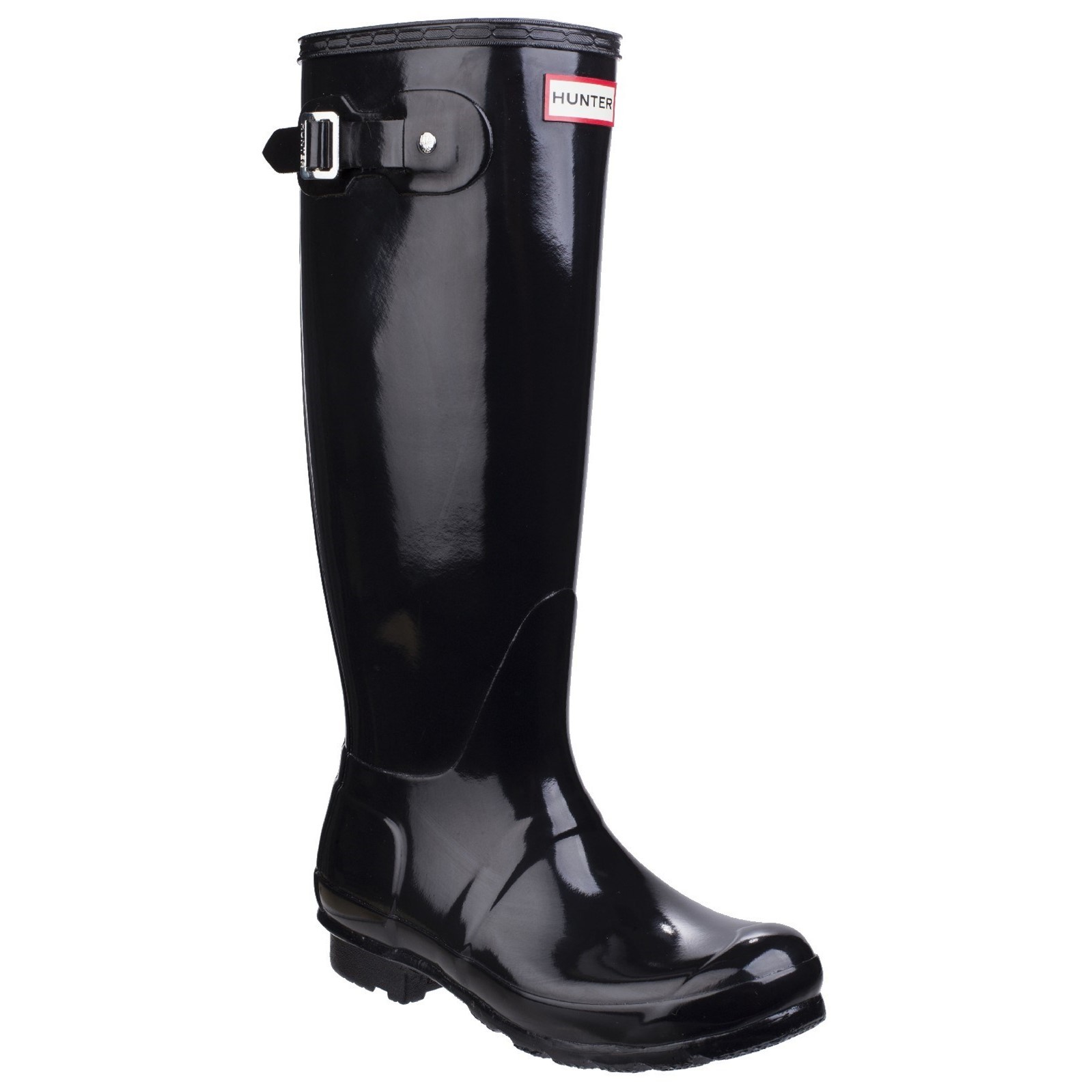Womens Original Tall Gloss Wellington Boots Black from 6PM.COM