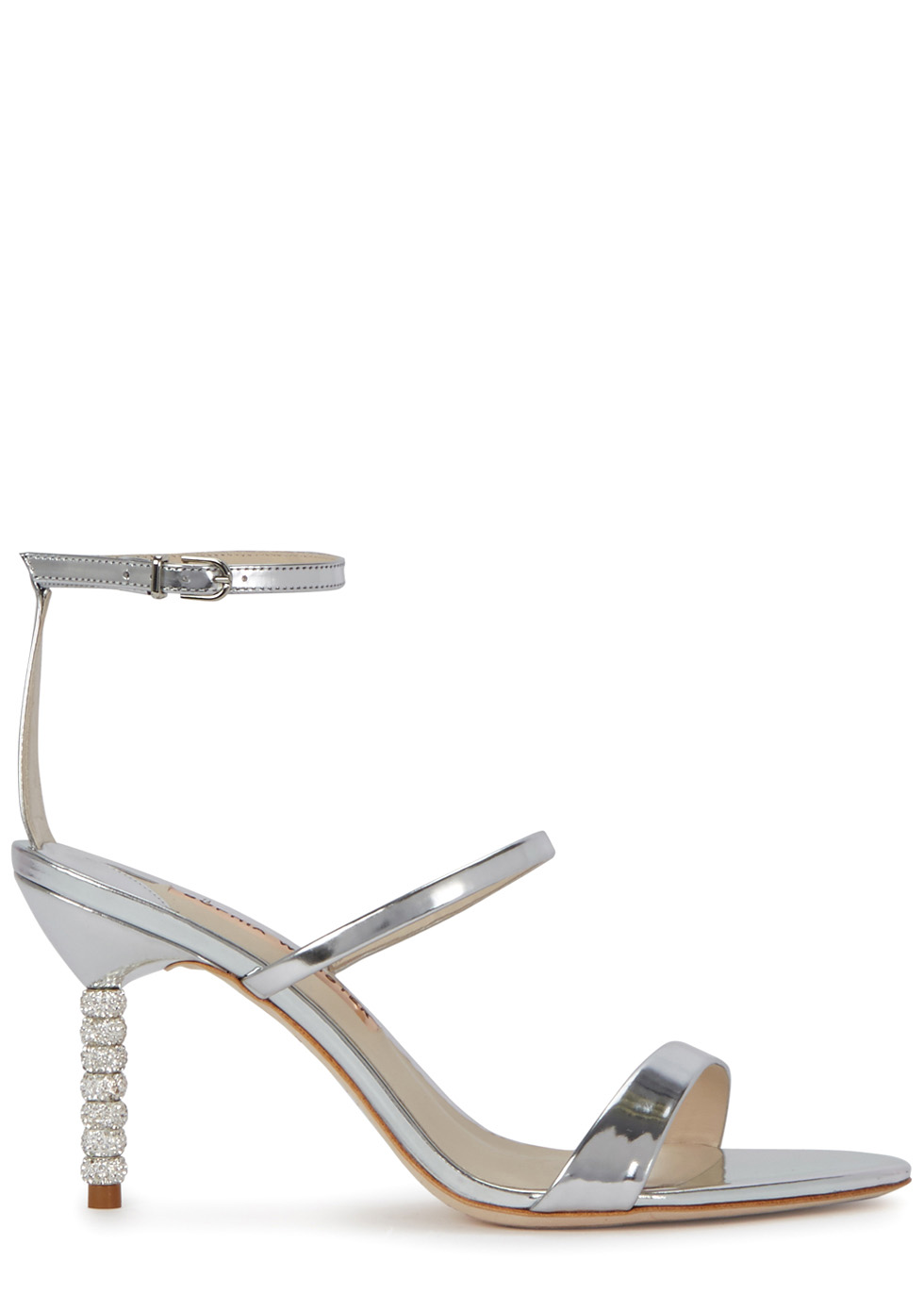 Rosalind 85 silver leather sandals