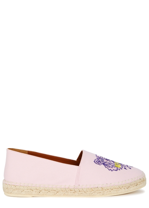 a871049e05fd KENZO Pink tiger-embroidered canvas espadrilles - Harvey Nichols