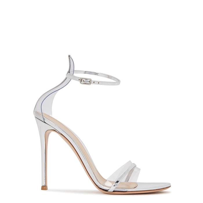 fe75f76962f1f Gianvito Rossi Exclusive To Mytheresa.Com - G-String Patent Leather Sandals  In Metallic