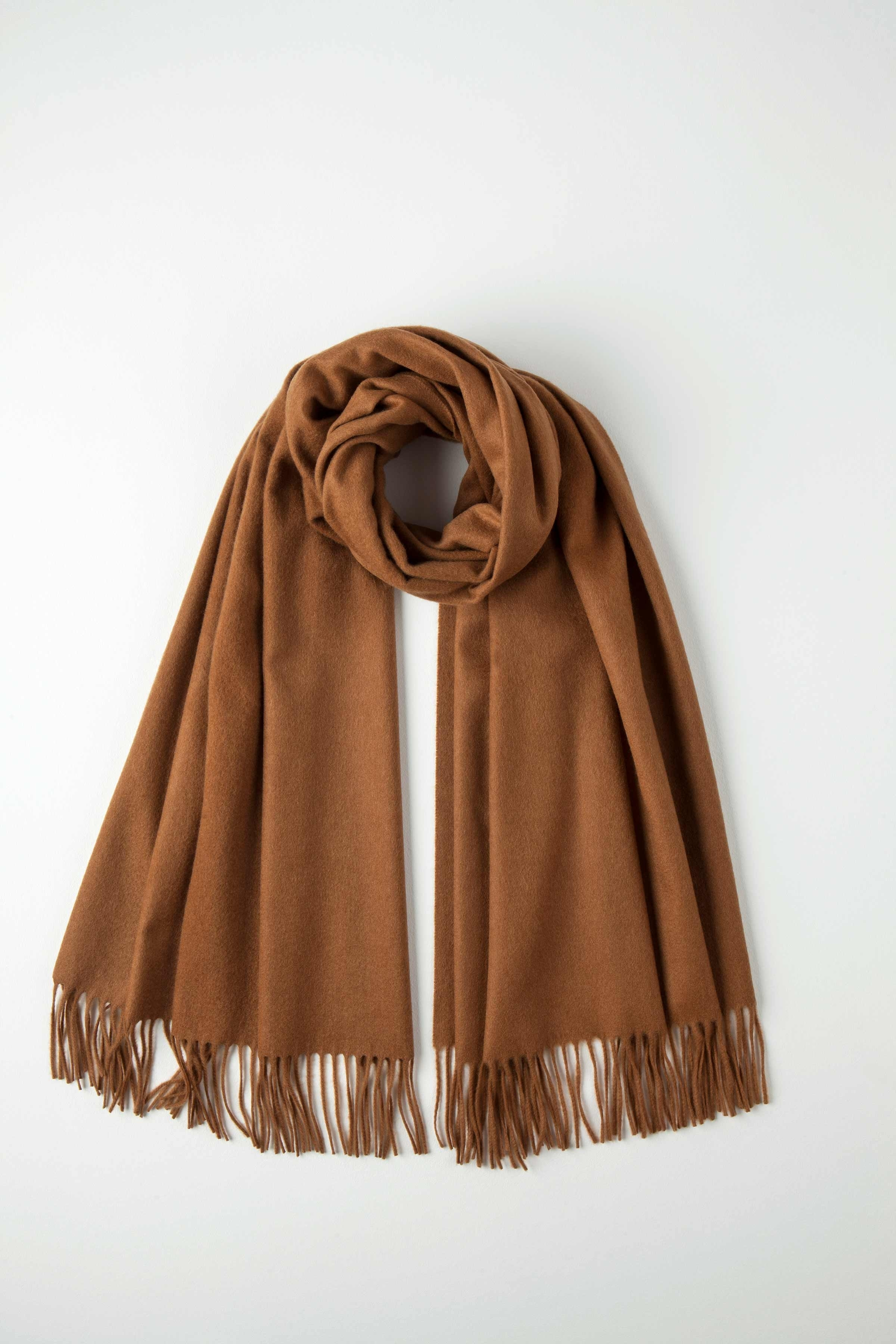 JOHNSTONS OF ELGIN TOFFEE CLASSIC CASHMERE STOLE