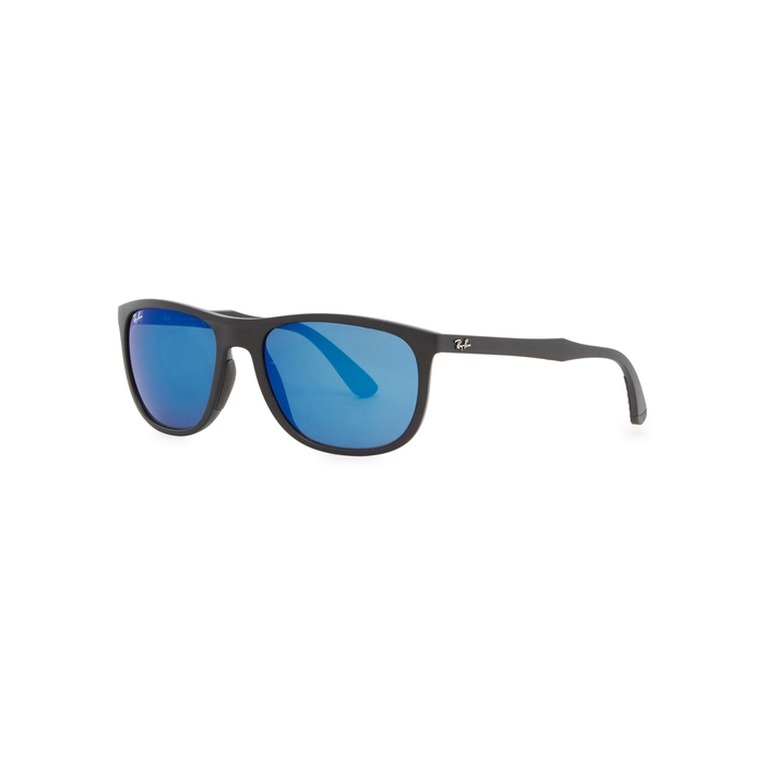 Ray-Ban Black Matte D-frame Sunglasses