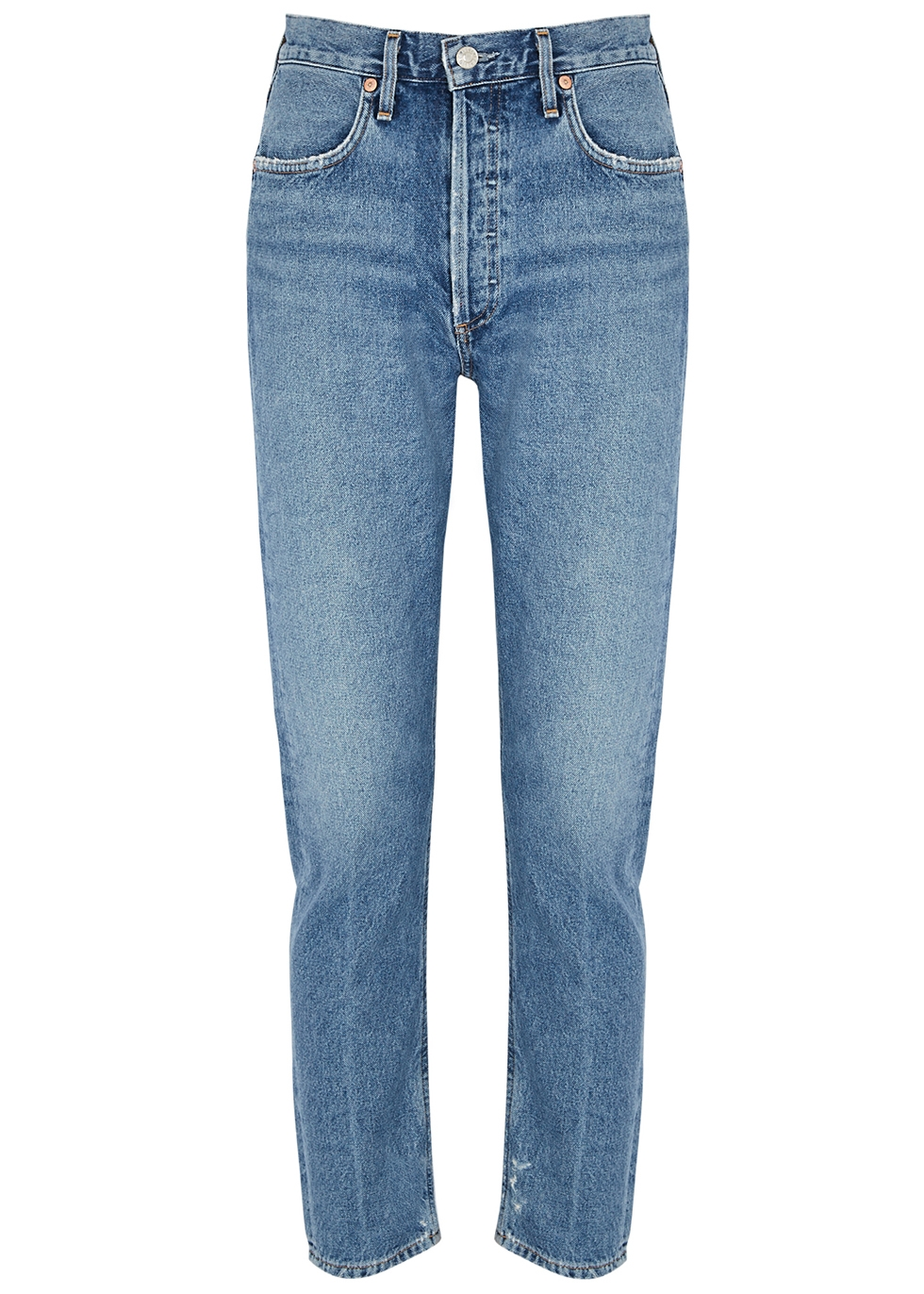 Jamie blue straight-leg jeans