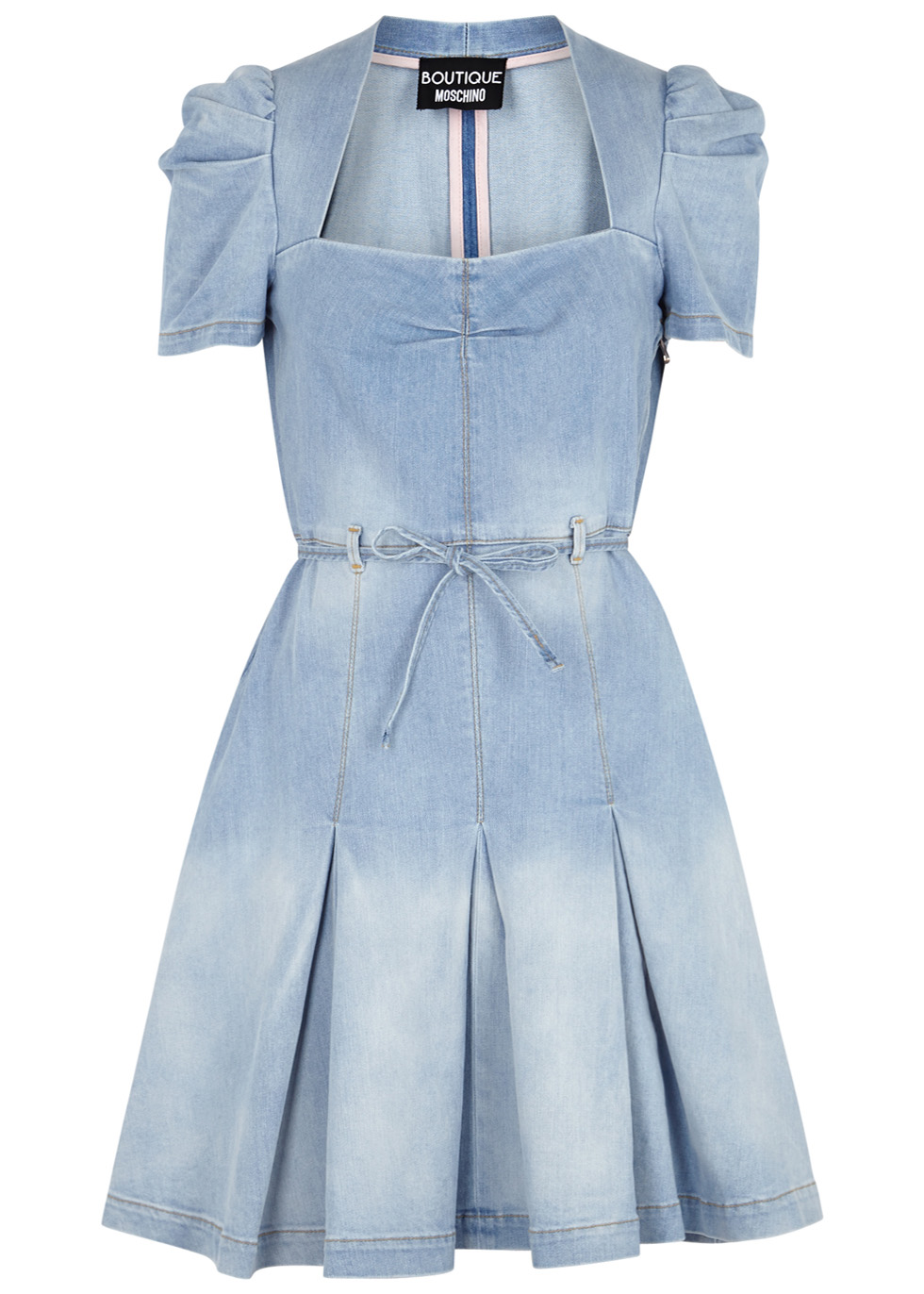 Light Blue Pleated Denim Dress