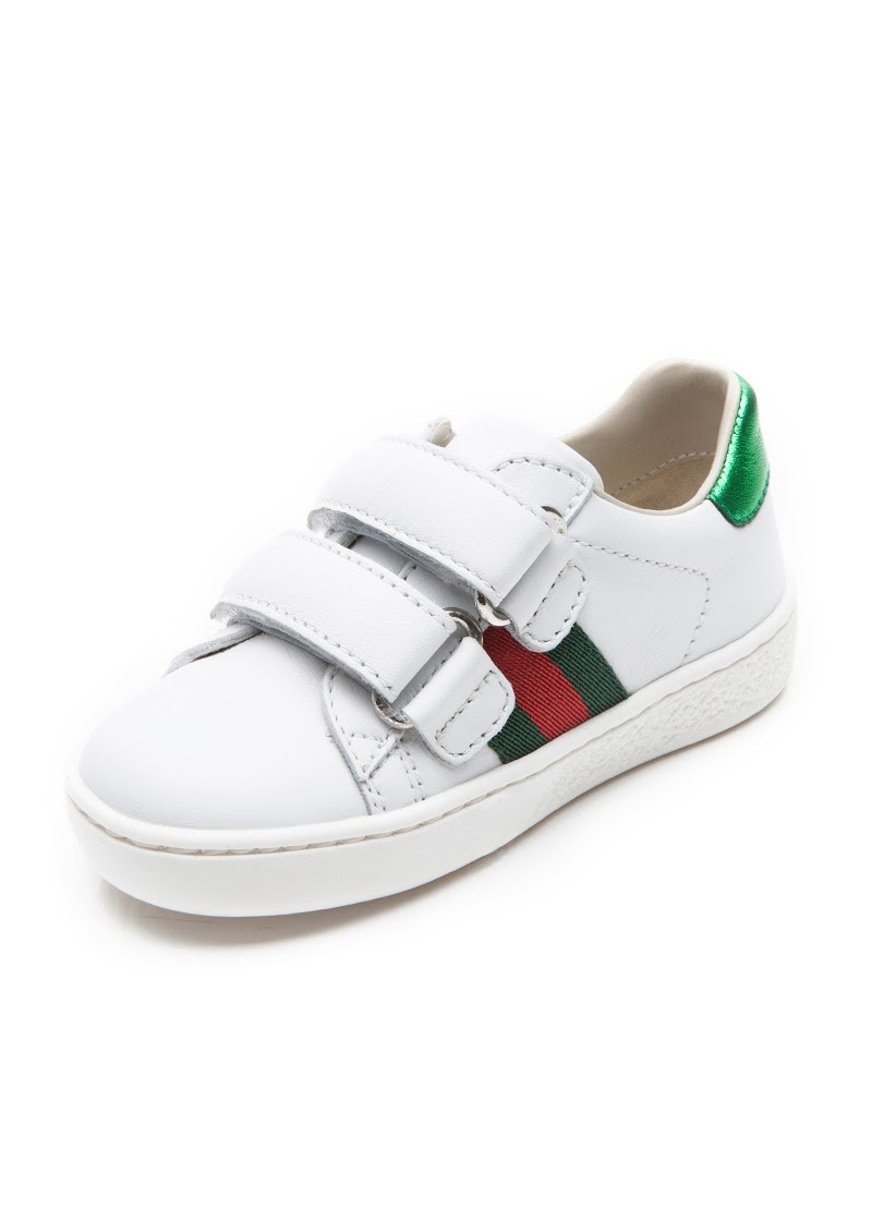 eeae49565 Leather web trainer toddler Leather web trainer toddler. Gucci