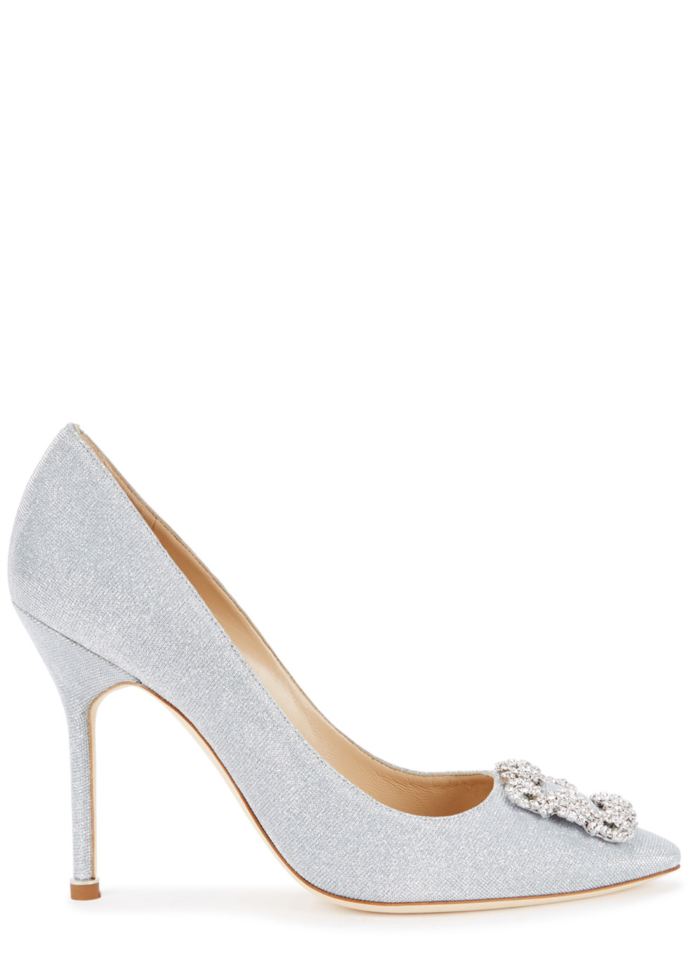 SILVER JEWEL BUCHLED PUMPS