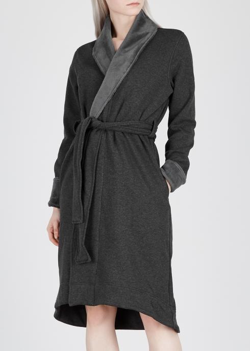 d860e4290e UGG Duffield II fleece-lined cotton jersey robe - Harvey Nichols