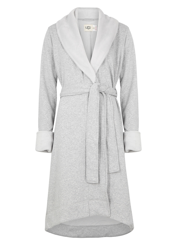 7869503558 Duffield II fleece-lined cotton jersey robe ...