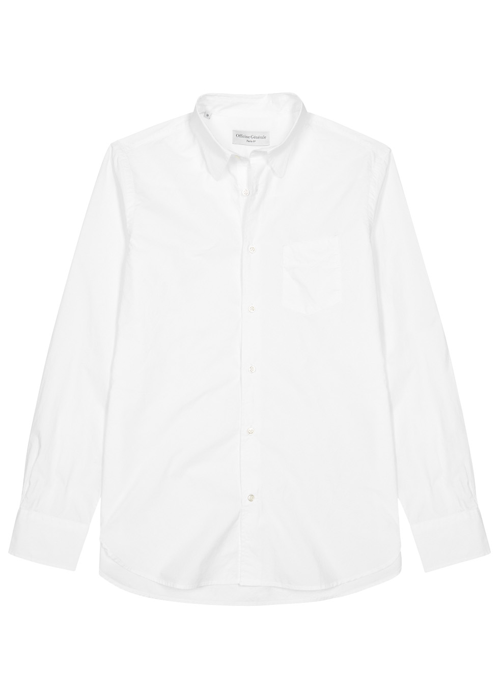 ... Benoit white poplin shirt. Officine Générale