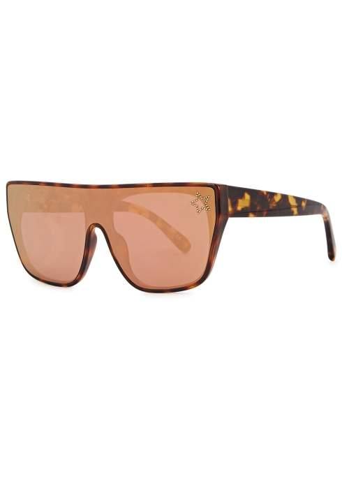 88dfa7f56b0d Stella McCartney Tortoiseshell mirrored D-frame sunglasses - Harvey ...