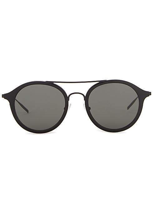 0a9473371 TOMAS MAIER Black round-frame sunglasses - Harvey Nichols