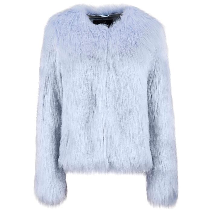 Unreal Fur UNREAL DREAM JACKET IN PASTEL BLUE