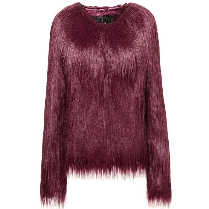 Unreal Fur UNREAL DREAM JACKET IN BURGUNDY