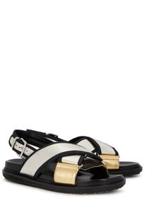 f86bd0a4d Fussbett metallic leather sandals Fussbett metallic leather sandals. Marni