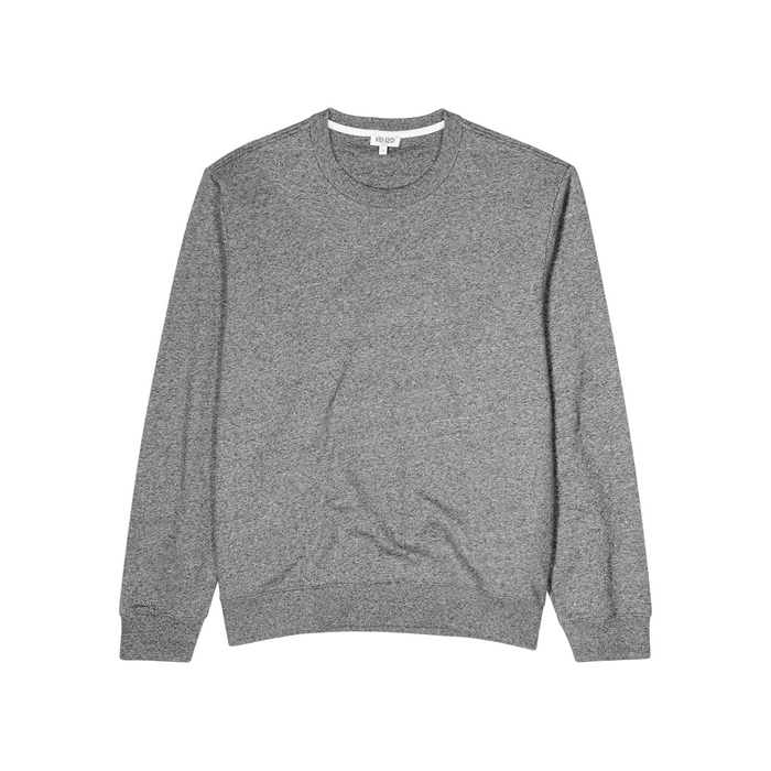 KENZO Grey Logo Cotton Sweatshirt