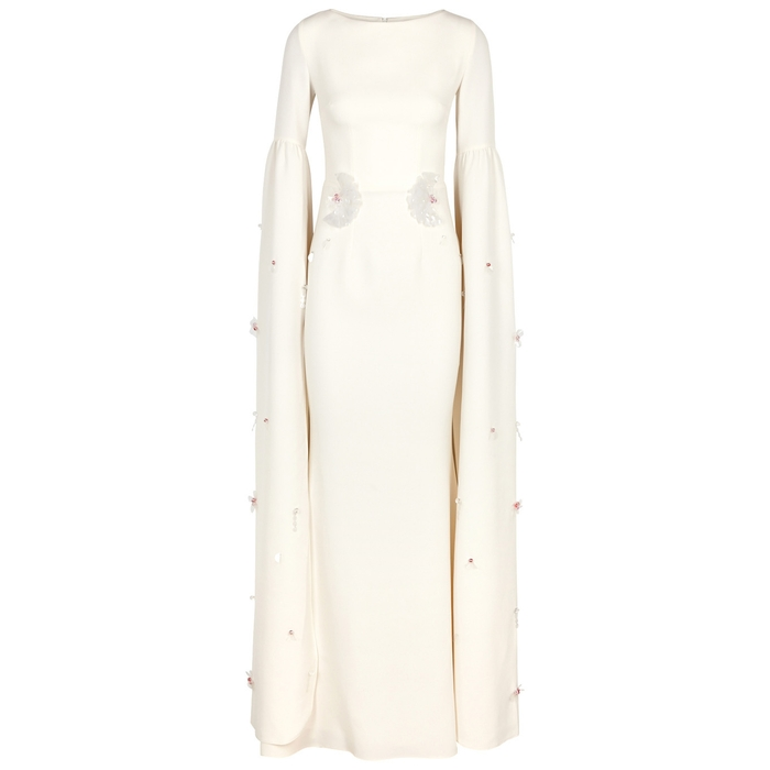 Safiyaa GRAND IVORY EMBELLISHED GOWN