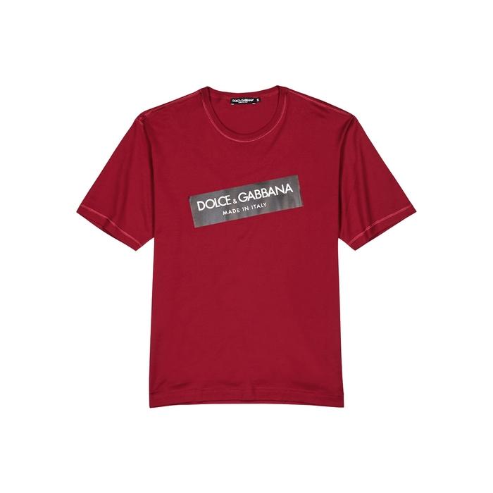Dolce & Gabbana Cottons RED LOGO-PRINT COTTON T-SHIRT