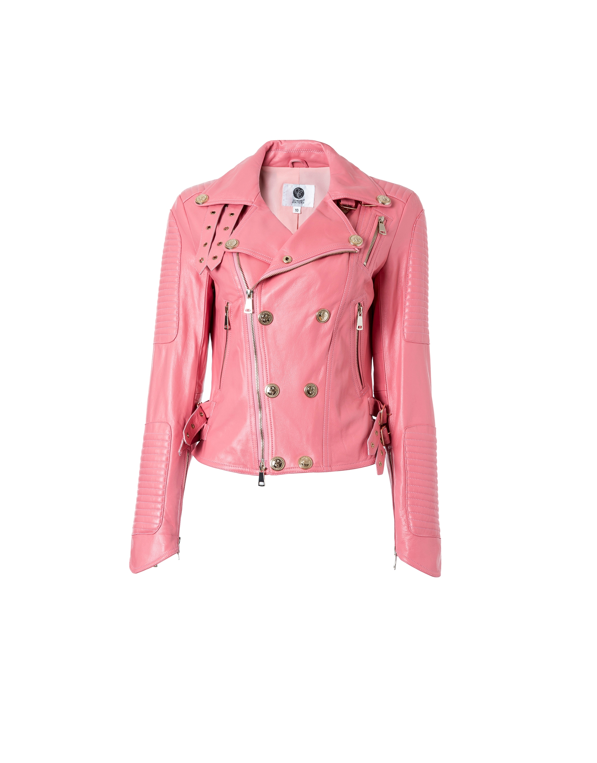 COMINO COUTURE REAL LEATHER BIKER JACKET