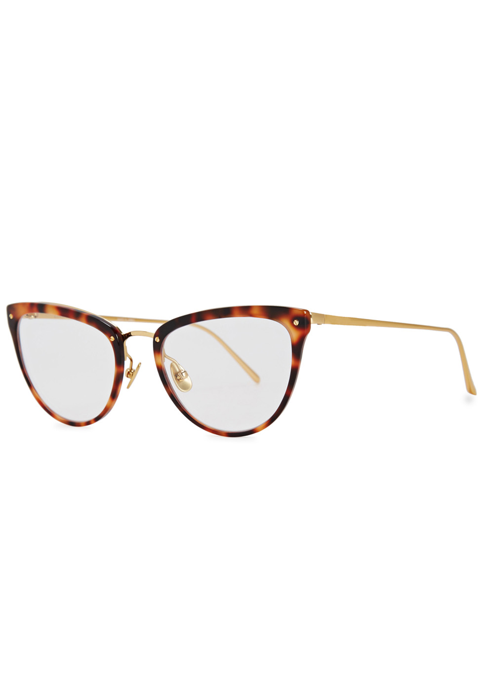 LINDA FARROW LUXE 683 GOLD-PLATED OPTICAL GLASSES