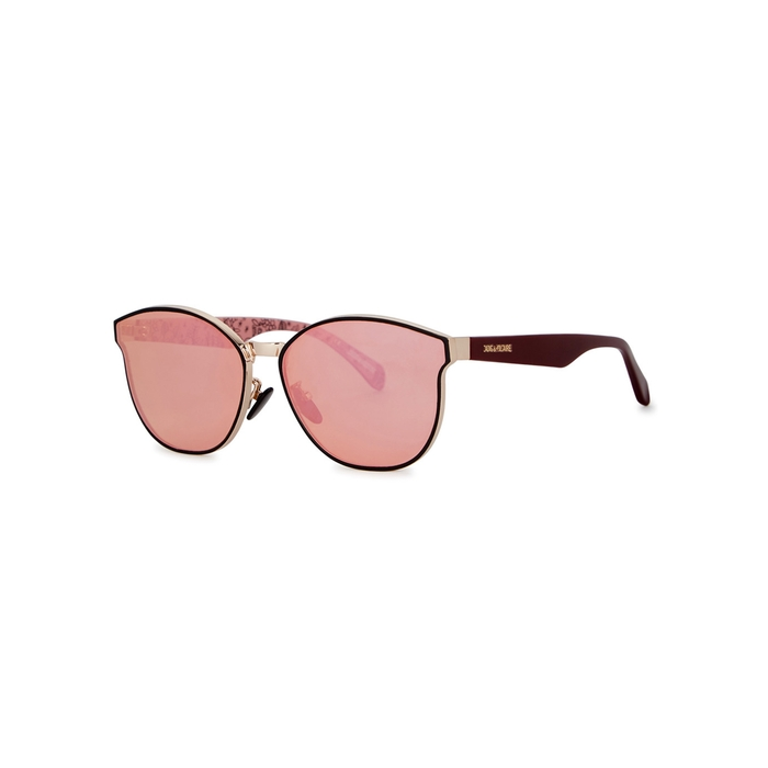 45f2f0bcd1 Zadig   Voltaire Rose Mirrored Oval-Frame Sunglasses