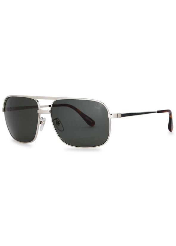 d9ae2dee96 Silver tone rectangle-frame sunglasses