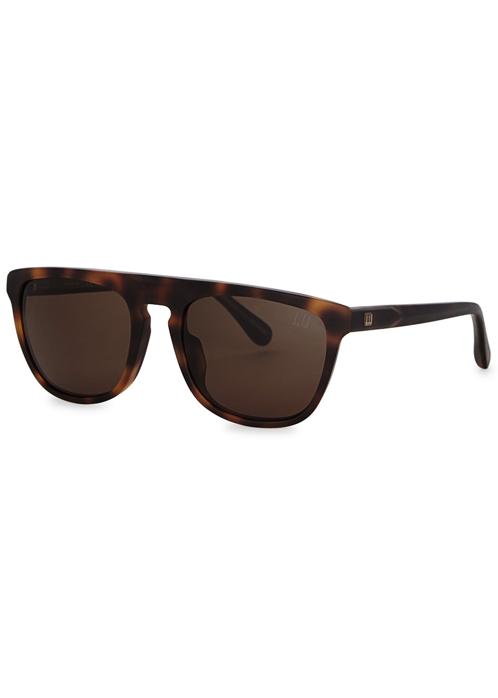 DUNHILL LONDON Tortoiseshell D-Frame Sunglasses in Havana