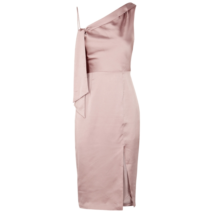 Finders Keepers ASPECTS MINK SATIN DRESS