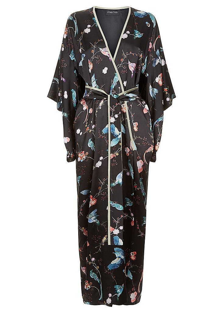 e8ad5353c MENG. White & orange silk satin & georgette kimono. £989.00 · Silk satin  kimono ...