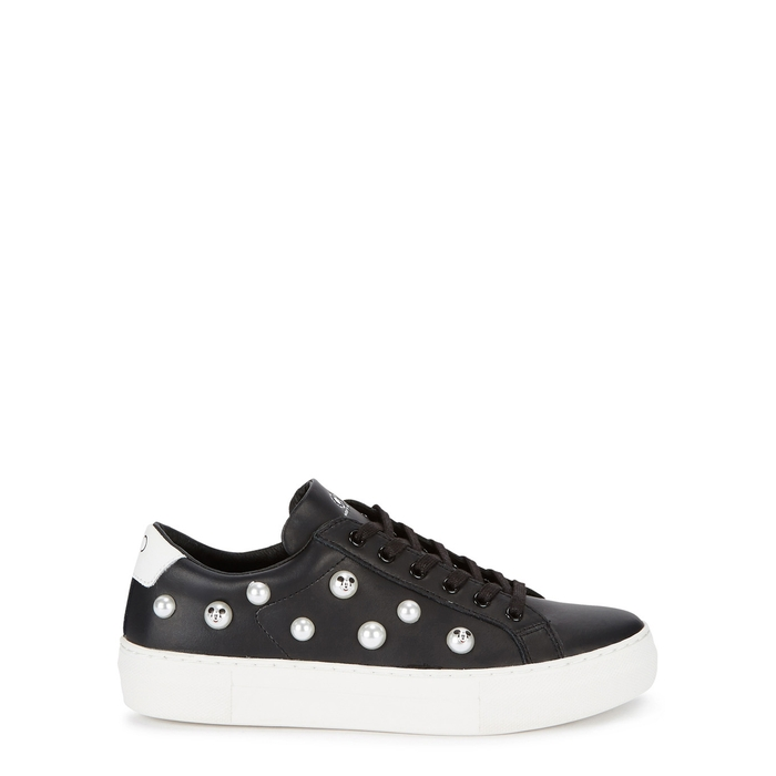 Moa Master Of Arts MOA MASTER OF ARTS MICKEY FAUX PEARL LEATHER TRAINERS
