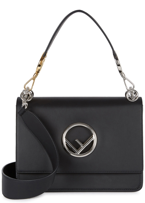 a43761d06ff4 Fendi Kan I F black leather shoulder bag - Harvey Nichols